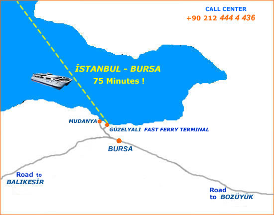 Время движения до Стамбула на
